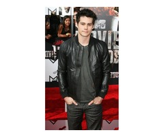 Dylan O'Brien Black Real Sheep Skin Leather Jacket