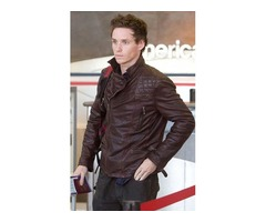 Eddie Redmayne Dark Brown Real Sheep Skin Leather Jacket