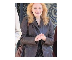 Elisabeth Moss The Kitchen Dark Brown Real Cowhide Leather Jacket
