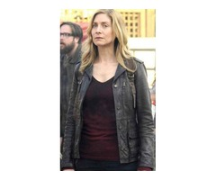 Elizabeth Mitchell Revolution Real Sheep Skin Leather Jacket