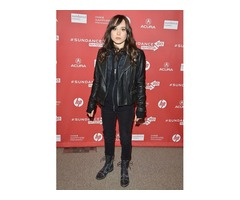 Ellen Page Black Real Sheep Skin Leather Jacket