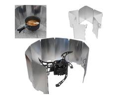 IPRee Camping Foldable Aluminum Plates BBQ Stove Wind Shield