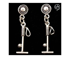 Solid Sterling Silver Polo Mallet Earring with Stud Posts For $75.00
