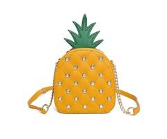 Fashion Rivet Pineapple Shape Crossbody Bag