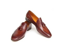 Brown Tessle Loafers Handmade Shoes Genuine Leather