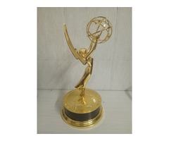 Emmy Awards Trophy 39cm/15.5 inch Statuette Metal Replica Gold Zinc Alloy
