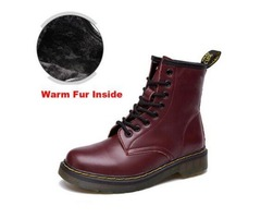 SZSGCN615-Big size 35-46!Dr Genuine Leather shoes men and women Boots High Top Martin Motorcycle Aut