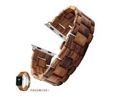 Newly Natural Wooden Bamboo Wood Watch Band Wrist Band Strap Bracelet For Apple Smart Watch 42m