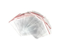 100Pcs Clear Jewelry Plastic Ziplock Reclosable Packing Bags