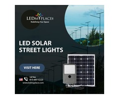 LED Solar Lights are Easy to Install into an Existing Parking Area