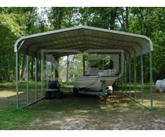 Shop Metal Carport Kits with Regular Roof System | 18W x 31L x 7H