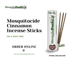 Buy All Natural Mosquitocide Cinnamon Incense Sticks