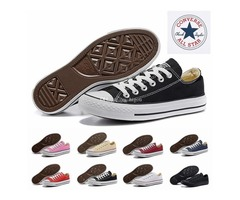 All Star⠀Converse Core Casual Shoe Low Cut Classic Black White Red Canvas Shoe Women Mens Converses