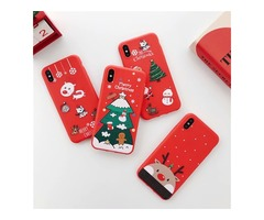 For iphone Xs Max Xr X 8 plus Christmas gift Elk Bear Phone cover Lovely Santa Cases