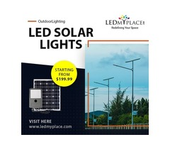 Bright up The Outdoor area By Installing  LED Solar Lights at Affordable Cost