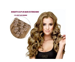 #8 LIGHT ASH BROWN BUGATTI CLIP-IN HAIR 120G