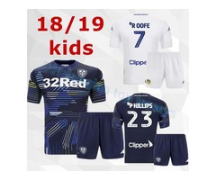 Kids 18 19 Leeds United jersey 2018 2019 ALIOSKI JANSSON BAMFORD COOPER SAIZ child youth home away s