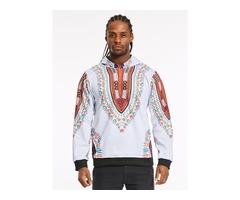 Tidebuy Hooded African Dashiki Pullover Mens Hoodie