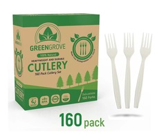 Biodegradable plastic silverware | Green Grove