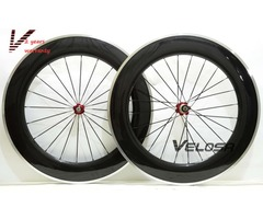 88mm clincher Alloy braking surface carbon wheels road bike wheelset carbon rim with alloy brake tra