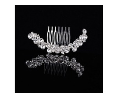 Simple Style Floral Rhinestone Alloy Wedding Tiara