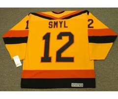 2018 Wholesale Cheap STAN SMYL Vancouver Canucks 1985 CCM Vintage Home Hockey Jersey All Stitched To