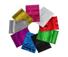 7.5*10cm 9 Colors Zipper Top Mylar Foil Bag Reclosable Aluminum Foil Zip Lock Package Bag Heat Seala