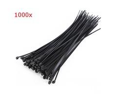 Suleve™ ZT02 1000pcs 2.0x100mm Black / White Nylon Cable Ties Zip Ties