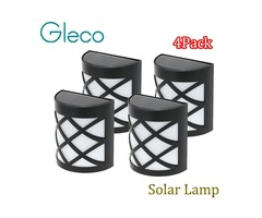 Wholesale- 4PCS LED Solar Lamp IP55 Waterproof Solar night Light 6 LEDs Street Outdoor Path Roof Cor