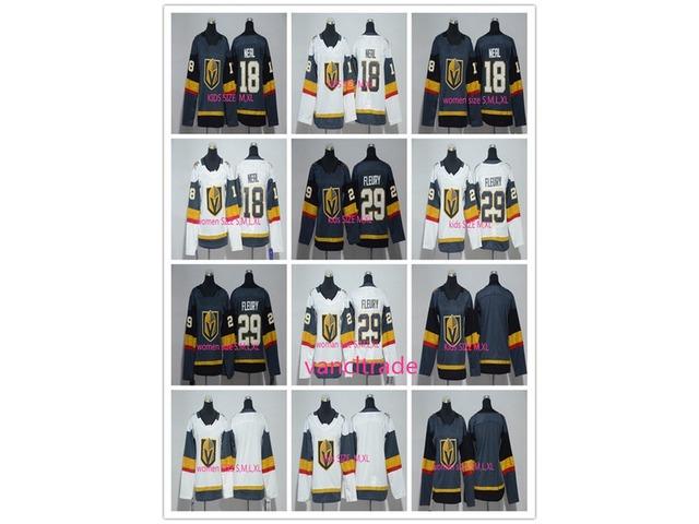 new style f4203 58546 WomenKIDSVegasGoldenKnights18JamesNeal29Marc-AndreFleuryIceHockeyJerseysFleurySports
