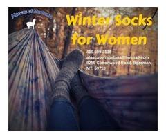 Winter Socks for Women | Alpacasofmontana