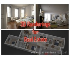 Get Advanced 3D Renderings for Real Estate Offered by DIMENSIONS