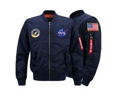 Wholesale Youthful Popularity Personality Emblem Decoration Face Jackets Men Pure Color MA1 Pilot Ja