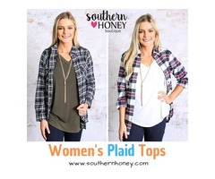 Sway in Style With Women's Plaid Tops from Southern Honey Boutique