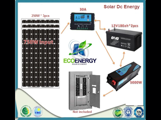 750w home solar system complete kit