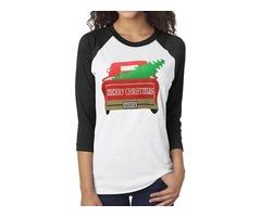 Casual 3/4 Sleeve Pattern Print Raglan T-shirt Tops