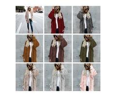 11 Colors Women Sherpa Sweatshirt hooded overcoat long sleeve fleece soft cardigan warm women fashio