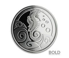 2019 Samoa Seahorse Silver BU 1 oz