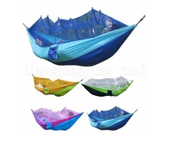 Mosquito Net Hammock 12 Colors 260*140cm Outdoor Parachute Cloth Field Camping Tent Garden Camping S