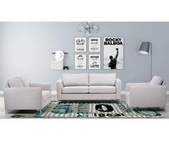 Alex Fabric Living Room Set in Light Grey   Get.Furniture