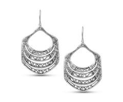Textured Earrings, Filigree Earrings, Minimal Earrings, Dangle Earrings Sterling