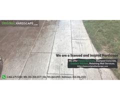 Stamped concrete service