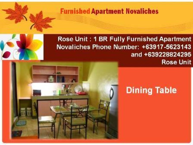 1 br fully furnished apartment in novaliches quezon city | free-classifieds-usa.com