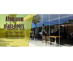 Aluminum glass doors, a perfect blend of strength & elegance