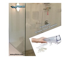Frameless Shower Door Sweep - Shower Sweeps | pFOkUS