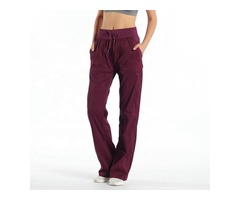 High quality sport styles loose women fitness workout pants