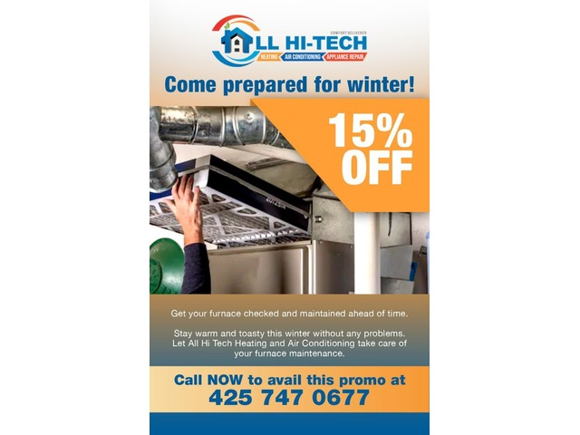 Limited Offer: 15% OFF on Furnace Maintenance! | free-classifieds-usa.com