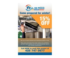 Limited Offer: 15% OFF on Furnace Maintenance!