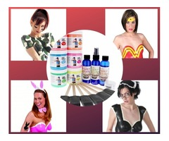 Blacklight Liquid Latex Body Paint 6 Brushes Kit