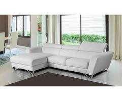 Sparta Mini Italian Leather Sectional Sofa - Get.Furniture